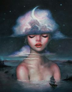 Nocturne - oil painting by Happy D Artist