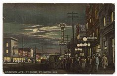 Garrison Avenue at Night Fort Smith Arkansas 1913 Postcard | eBay