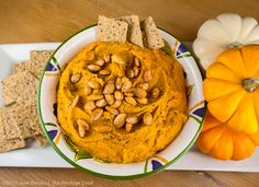 Chile-Pumpkin Hummus for Food Network's #FallFest - The Heritage Cook ®