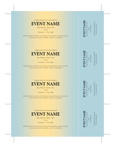 Elegant Free Ticket Template More  Free Printable Tickets For Events