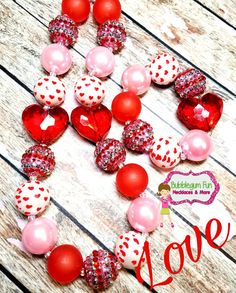Check out this item in my Etsy shop https://www.etsy.com/listing/504716617/valentines-heart-chunky-necklace-love