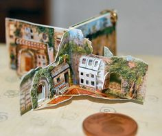 1/12 scale Secret Garden miniature pop-up book by Jana Wichmann