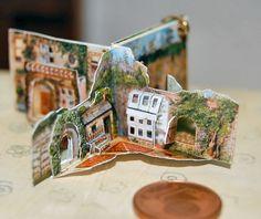 1/12 scale Secret Garden miniature pop-up book by Jana Wichmann