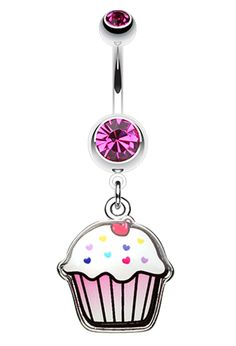 Cute Cupcake Belly Button Ring