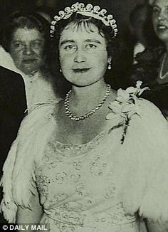 The tiara was originally a gift to the late Queen Mother, right, by her husband George VI