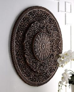 Carved Wall Decor...I have one similar but not with the three tiers