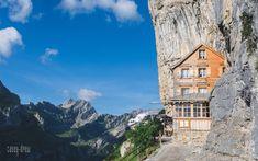 Aescher, Switzerland | shutthefstop Switzerland, Cabin, Explore, Mountains, House Styles, Nature, Travel, Naturaleza, Viajes