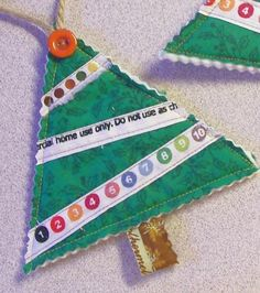 cute selvage ornaments