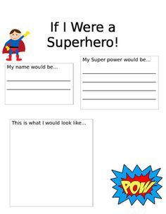 This superhero writing prompt can be used for any student! Students love getting into character and will be able to use their creativity to create their very own superhero. Superhero Writing, Superhero Preschool, Superhero Classroom Theme, Classroom Themes, Superhero Party, Create A Superhero, Super Hero Activities, Summer Camp Activities, Writing Activities