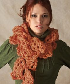 "Swirling Fans Scarf (super bulky 6) 3 balls @ 58 yds, Red Heart Boutique ""Big &  Lite"" (discontinued)"