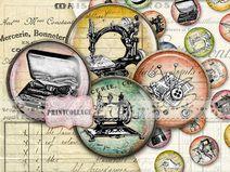 Printable digital Circles images cabochon images
