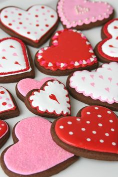 Chocolate Cut-out Cookies - by Glorious Treats  | Valentine's Day Recipes, ideas, food, treats, desserts