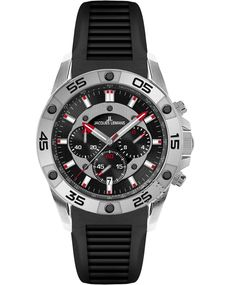 Jacques LEMANS Liverpool Chronograph Black Rubber Strap Η τιμή μας: 253€ http://www.oroloi.gr/product_info.php?products_id=35780