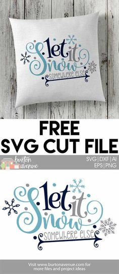 Are you done with the snow? Make this funny winter shirt or pillow with this free winter SVG file for Silhouette and Cricut