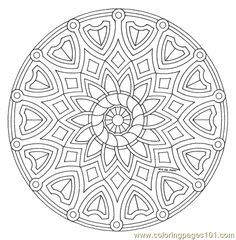 Free printable mandala coloring pages  many of these would make