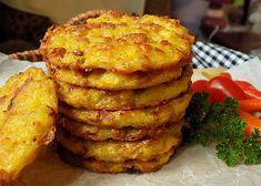 Pečené bramborové placky recept - TopRecepty.cz Bastilla, Potato Dishes, Bon Appetit, Food Inspiration, Baked Potato, Ham, Foodies, Muffin, Food And Drink
