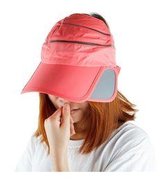 c3fd777b27cf2 Sun Visor Hat For Women-Summer 2 In 1 Band Expanding Brim Sport Cap  Watermelon Red CW12JDYYGY1