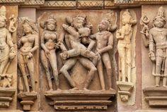 Templos do Kama Sutra (Khajuraho, Índia) - Este conjunto de templos ficou famoso por conta das figur... - Shutterstock
