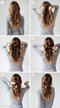 Hairstyle // Tie a knot hair tutorial.