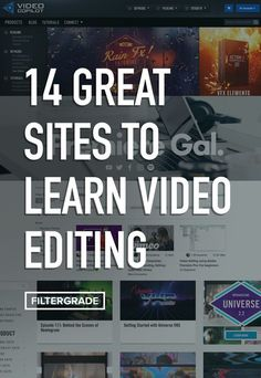 14 Great Sites to Learn Video Editing – FilterGrade Photography And Videography, Digital Photography, Photography Tips, Photoshop Photography, Product Photography, Start Youtube Channel, Film Tips, Great Websites, Videos