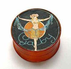 1910s Portuguese Gaby Powder Box