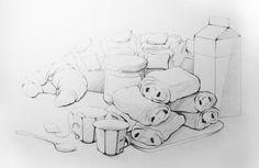 Stylised pencil illustration - Nicolas Lantoine