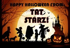 WELCOME TO THE WEEKEND FROM TAT STARZ!!  It's going to be a SPOOK-tacular weekend, and Tat Starz wants see YOU in the shop getting a great new tattoo or piercing. Come in and check out all the cool HALLOWEEN flash we have, or bring in your great idea and let our talented and creative artists help you design a custom tattoo just for you. Our artists are some of the best in the business and have years and years of experience.