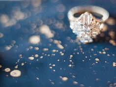 Vintage Starburst Engagement Ring | Megan Robinson Photography | Indigo and Pewter Wedding Palette