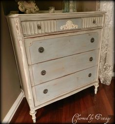 Antique Hand Painted Shabby French Dresser (SOLD and RESERVED for COLEEN)
