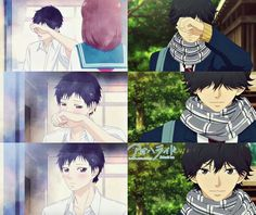 I'm so glad someone but past Kou and present Kou side by side because they do the EXACT SAME THING