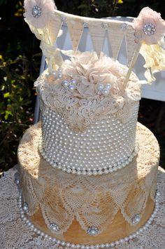 Vintage Inspired Paper Cake Decor by HarveyGirlStyle on Etsy, $499.00