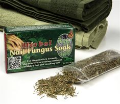 This safe, natural, 100% herbal treatment wipes out nail fungus! Easy to use and potent, with results guaranteed by the manufacturer.  •Effectively treats fingernails, toenails, persistent athlete's foot and cracked heels.  •Contains Equisetum, Mentha, Lavendula and Eucalyptus. • Steep herbs in apple cider vinegar (not included) and soak affected areas 3-5 minutes daily. • .65 oz. box includes enough for 2 months of treatment (improvement normally seen in about 6 weeks).  $14.95