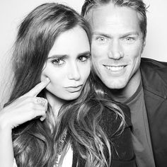 InStyle's Summer Soiree Photo Booth - Lily Collins and Jason Lewis from InStyle.com