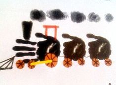 Vlak - odtlačok rúk