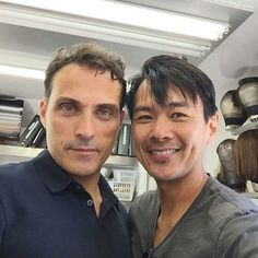 """8 Likes, 1 Comments - Claudia Ludwig (@kiwi_all_blacks) on Instagram: """"#RufusSewell and #JoelDeLaFuente at set of #TheManInTheHighCastle"""""""
