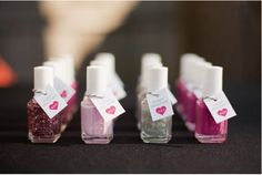 another idea for shower flavors... sparkling color nail enamel with a cute tag in it