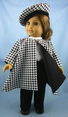 American Girl Doll Clothes  Cape Tam and by SewMyGoodnessShop, $27.00