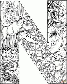 Coloring: N Coloring Page