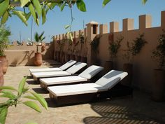 Sunbathing at Riad Pachavana
