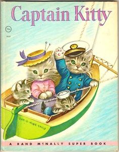 Vintage Rand McNally Super Book Captain Kitty Oversized Elf Book