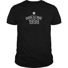1998 Awesome Birthdays Anniversaries Birthyears Cool Parties Gifts T Shirts, Hoodies. Check Price ==► https://www.sunfrog.com/Birth-Years/1998-Awesome-Birthdays-Anniversaries-Black-Guys.html?41382