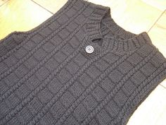 Ravelry: Project Gallery for p.60 Vest pattern by Puppy (Daidoh International, Ltd.)