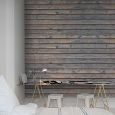 Taste for wood? #wallpaper - Horizontal Boards - rebelwalls.com