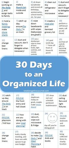 30 Days to an Organized Life - Totally Together Journal