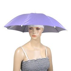 Nylon Umbrella Headwear Hat for Outdoor Fishing by uxcell. $7.61. Product Name: Mini Headwear Umbrella; This umbrella head cap can shade from the sun or protection from the rain; Soft and comfortable to wear; It is convenient,lightweight and portable; It is made of durable nylon and fit most head size; Weight: 110g; Package Content: 1 x Umbrella Head Cap