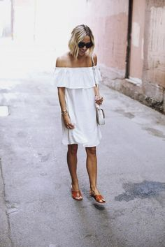 Perfect white summer dress!