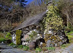 Old Stone House | House, old, stone, mysterious, in a sunlit wooded setting