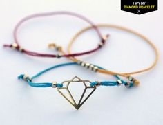 "MY DIY | ""Diamond"" Bracelet - I Spy DIY"