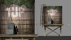 BIS INS KLEINSTE DETAIL ...   Game Artists erschaffen Welten, aber jedes noch so kleine Detail muss recherchiert, beobachtet und gestaltet werden. Hier: Der Entwurf einer Pforte in eine andere Welt in Form eines Wasserbehälters für das Projekt GIMME SHELTER. Concept von Franz Köhler, 2015