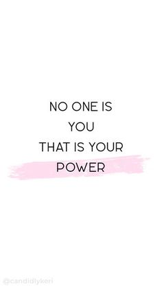 """""""No one is you that is your power"""" quote inspirational background wallpaper you can download for free on the blog! For any device; mobile, desktop, iphone, android!"""